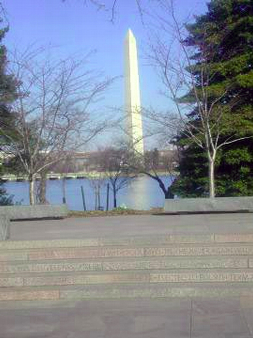 Washington DC, Washington monument from FDR memorial