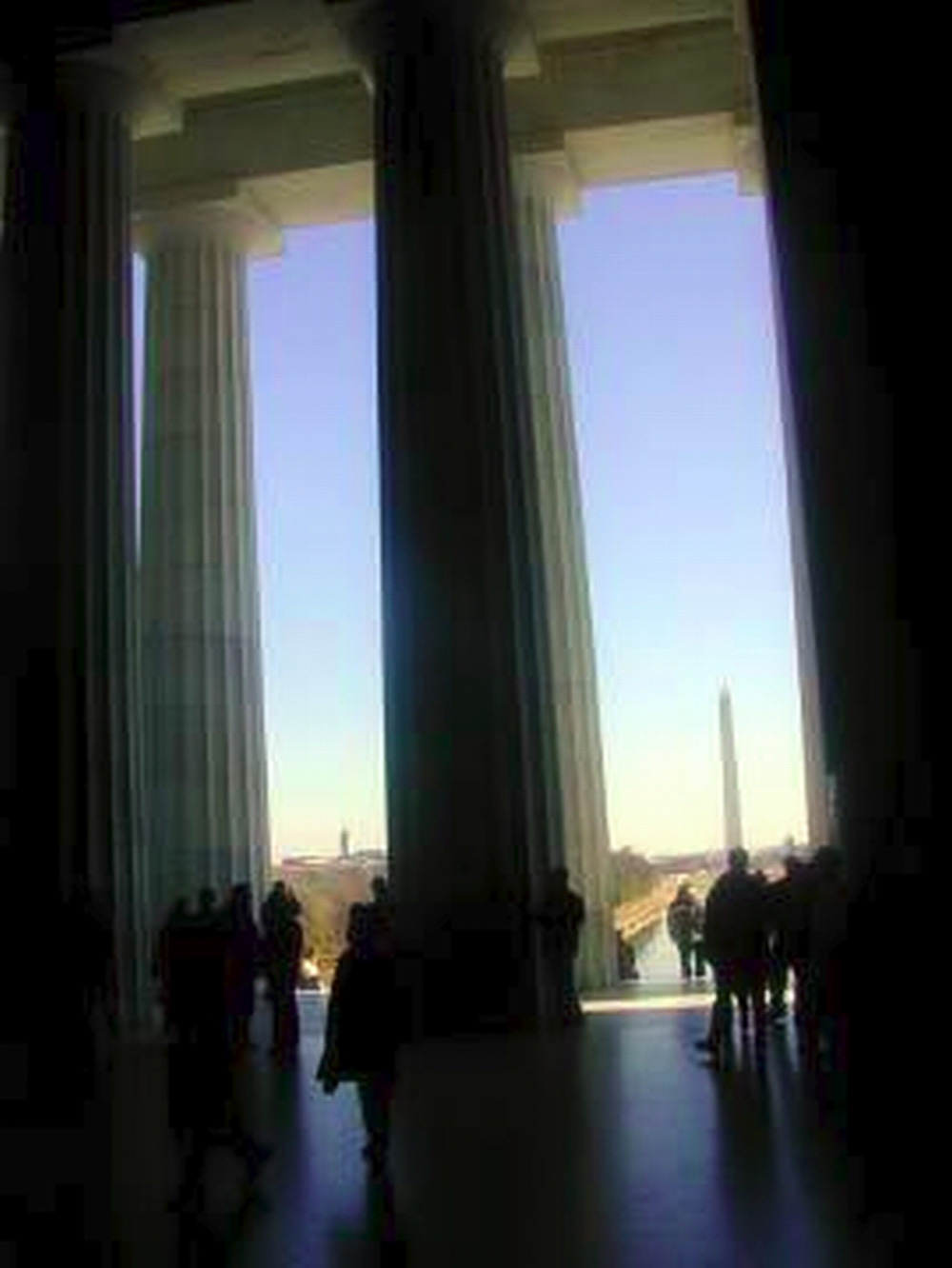 Washington DC, Washington monument from the Lincoln memorial