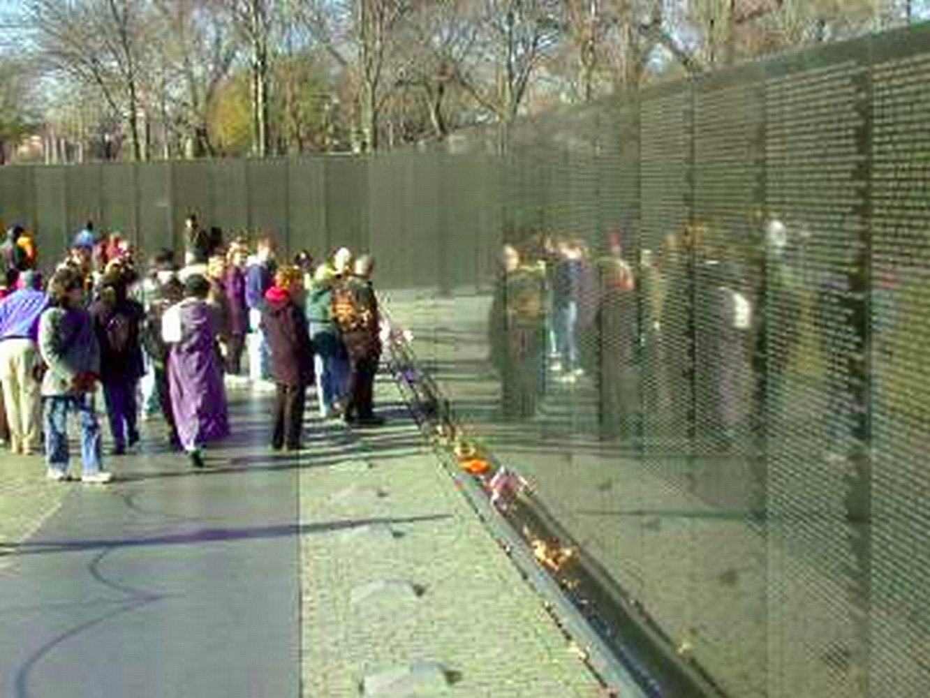 Washington DC, Vietnam War memorial wall