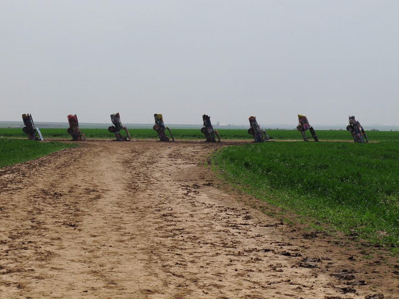 Driving Route 66, Cadillac Ranch