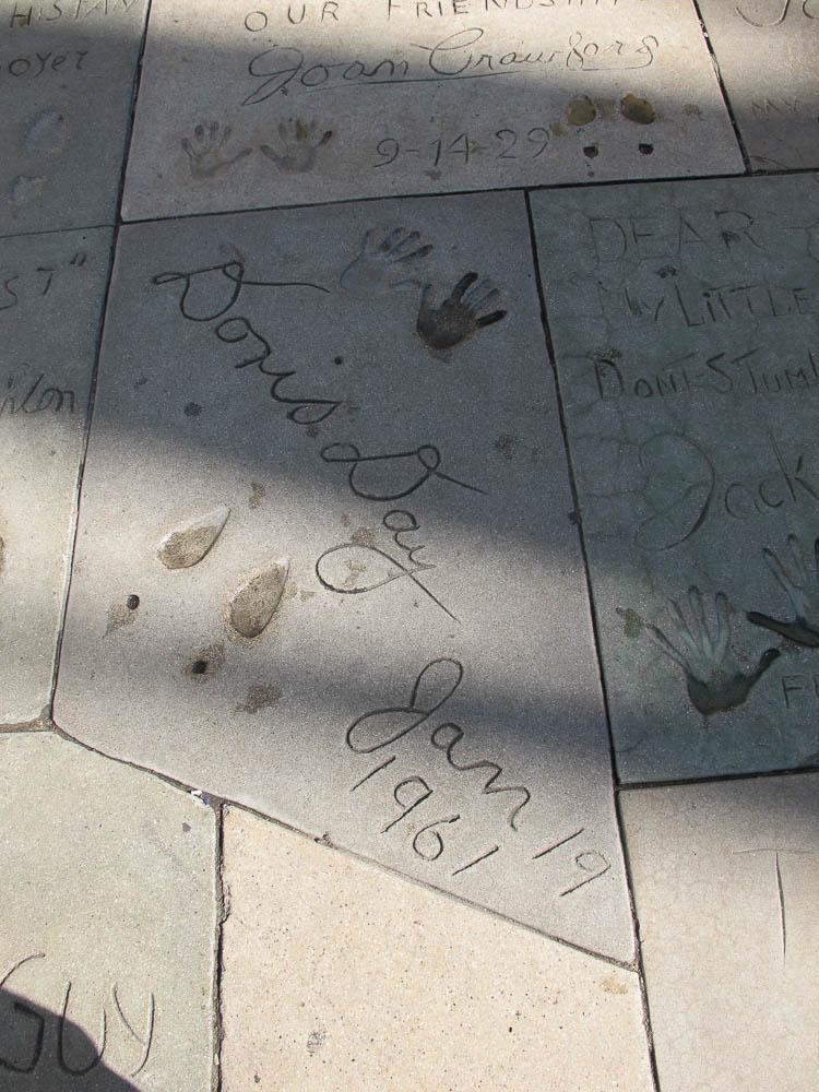 Grauman's Chinese Theatre footprints Doris Day