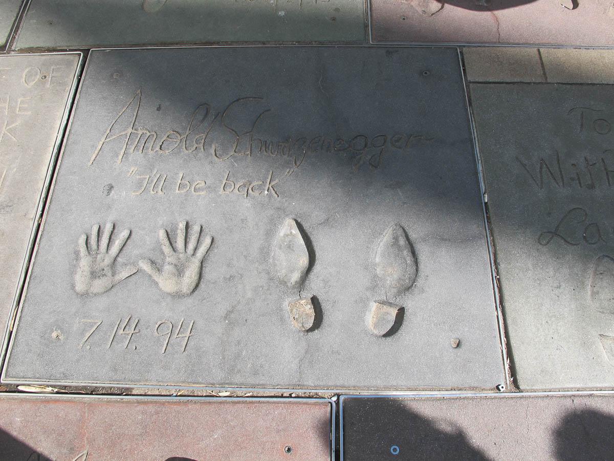Grauman's Chinese Theatre footprints Arnold Schwarzenegger