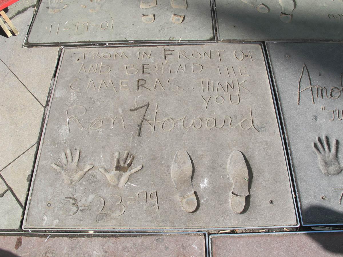 Grauman's Chinese Theatre footprints Ron Howard
