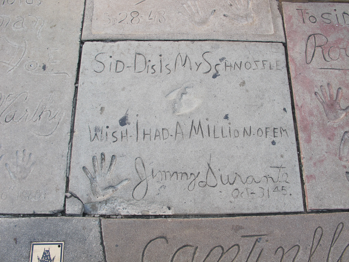 Grauman's Chinese Theatre footprints Jimmy Durante