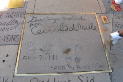 Grauman's Chinese Theatre footprints Cecil B deMille