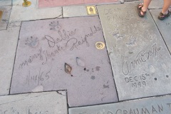 Grauman's Chinese Theatre footprints Debbie reynolds and Anne Baxter