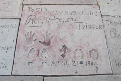 Grauman's Chinese Theatre footprints Roy Rogers and Trigger