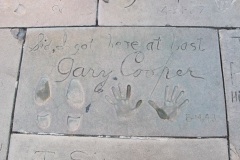 Grauman's Chinese Theatre footprints Gary Cooper