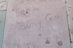 Grauman's Chinese Theatre footprints Bing Crosby