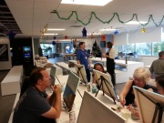 Workday team event with wine and painting pictures