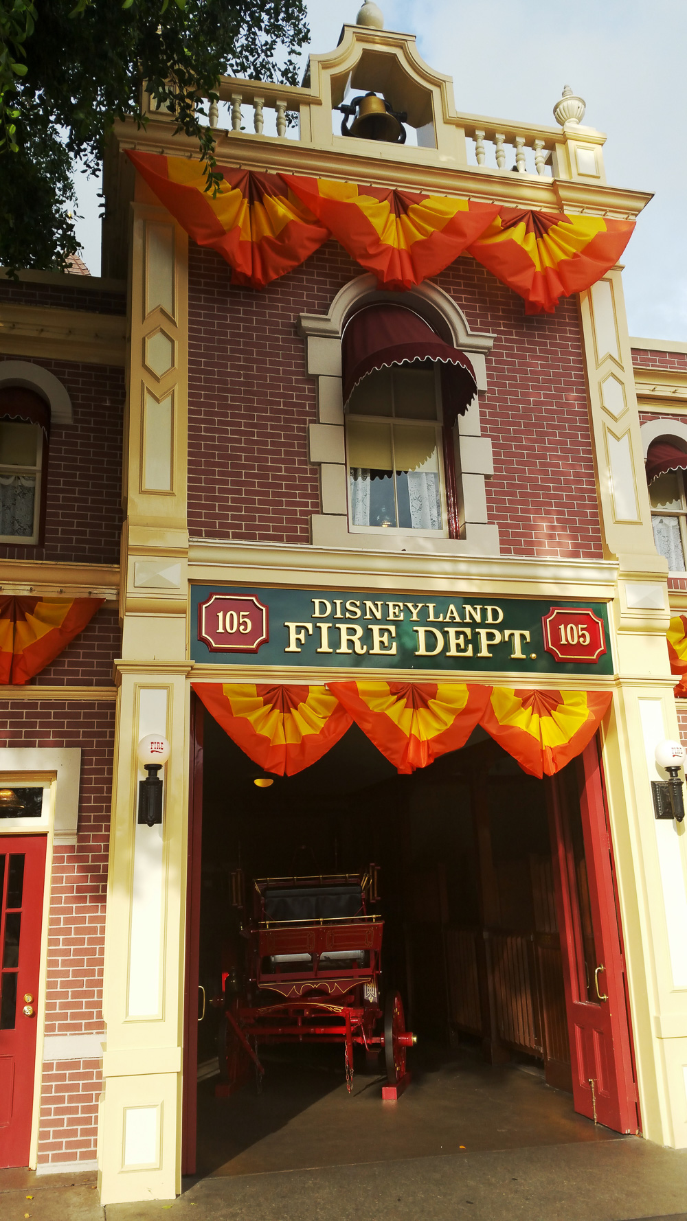 Disneyland Fire department building where Walt's office was located