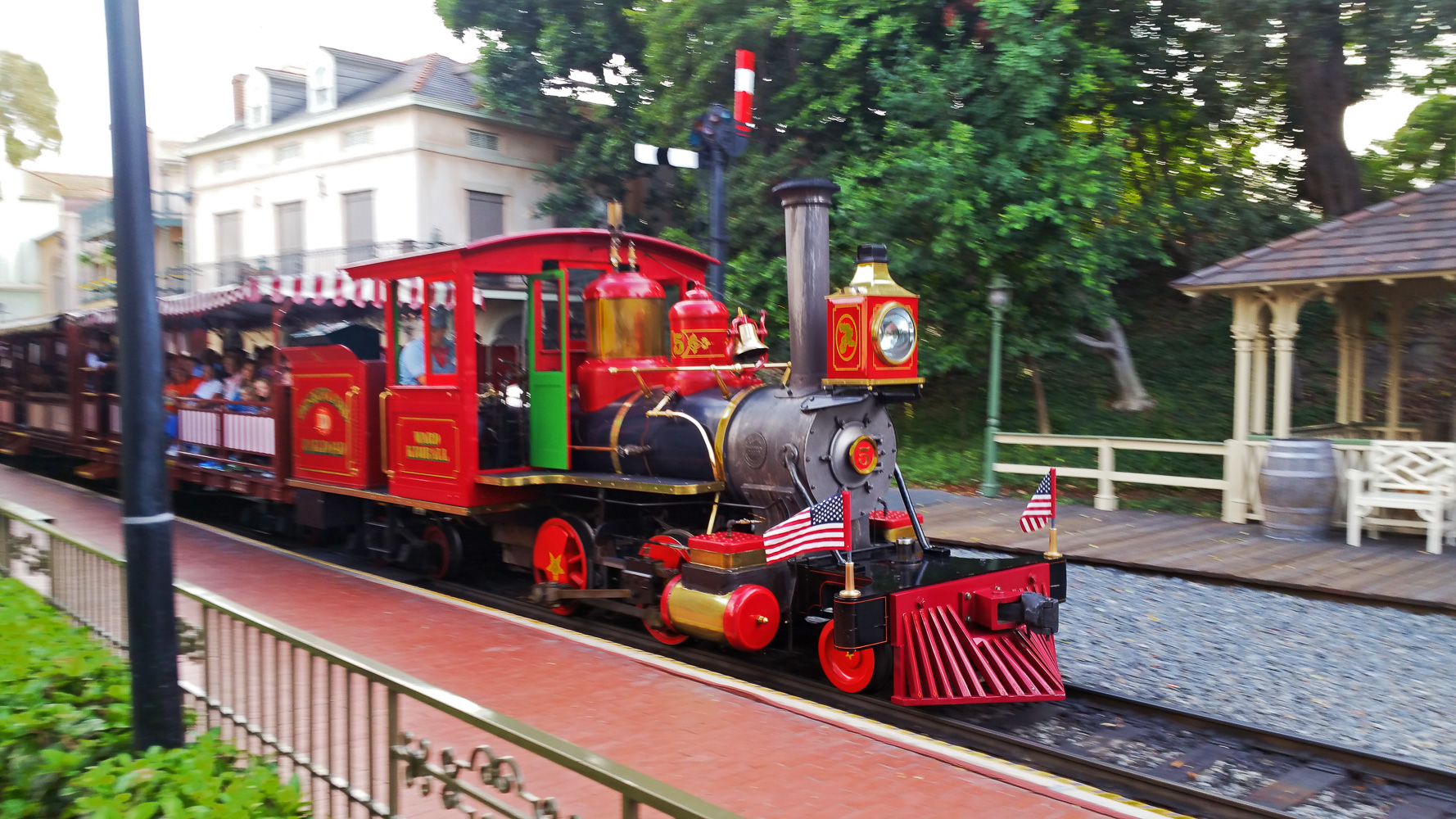 Disneyland train has arrived