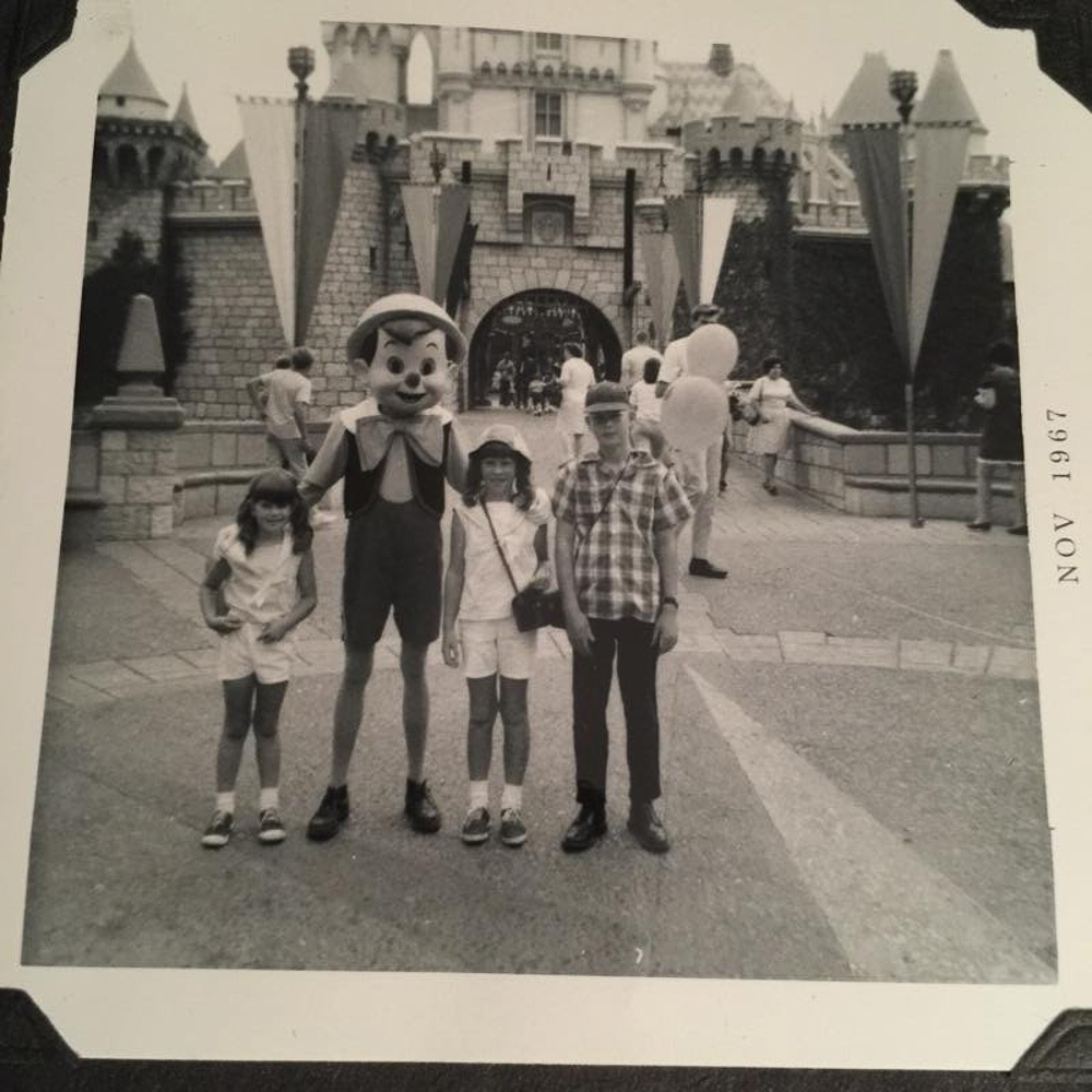 My sisters and I at Disneyland in 1967. We were there one to two years earlier.