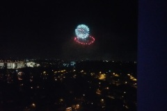 Fireworks from the Disneyland hotel