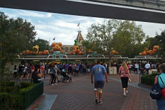 Entering Disneyland all decked out for Halloween and the 60th anniversary
