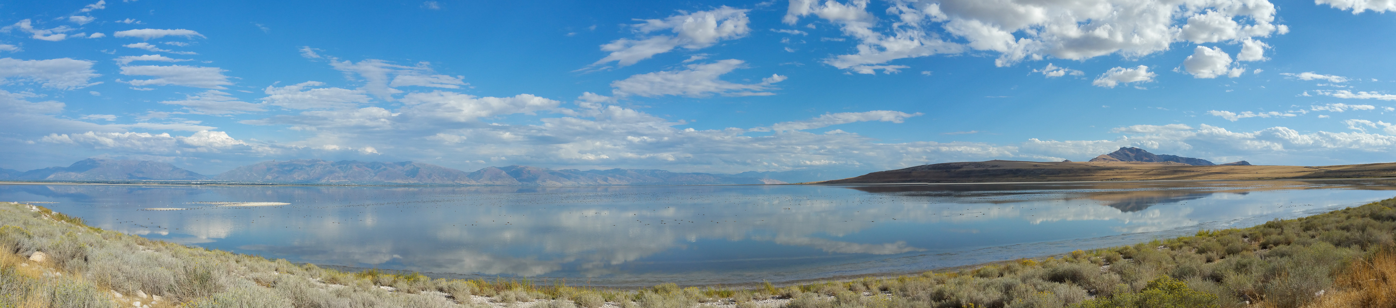 Driving out to Antelope Island in Utah