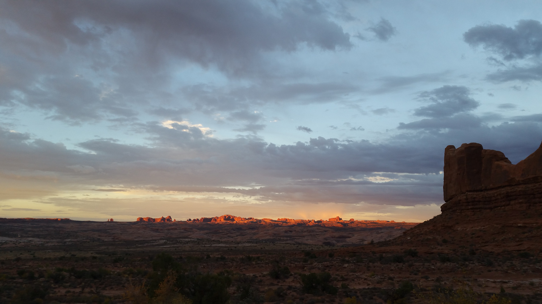 Sunset in Arches national park