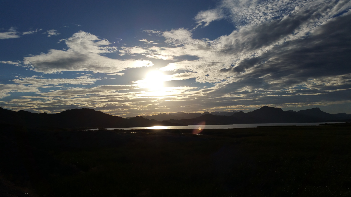 Sunset on the Colorado river south of Lake Havasu