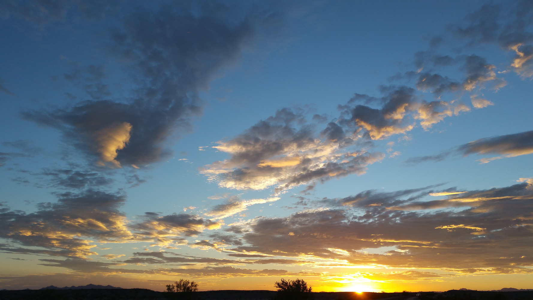Sunset over the Mojave
