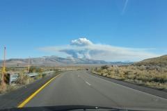 Smoke plum to the south of Mono Lake