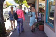 Olivia, Dasha, and Gwyn in Moab