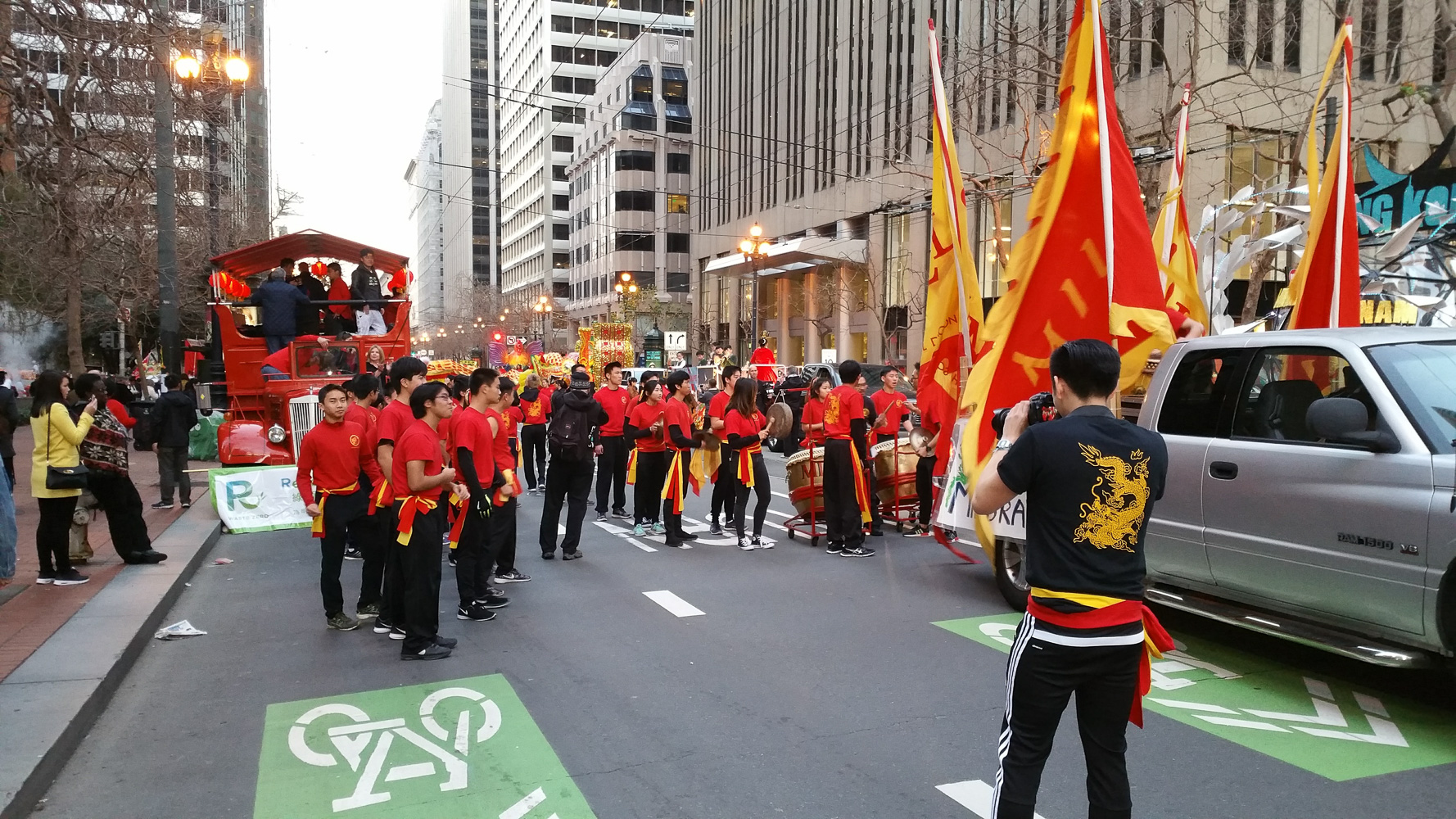 San Francisco Chinese New Years parade staging area for the parade