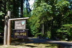 Cascadia State Park, OR. Oregon was in the path of totality and lots lof locations were preparing for huge crowds the day of the eclipse