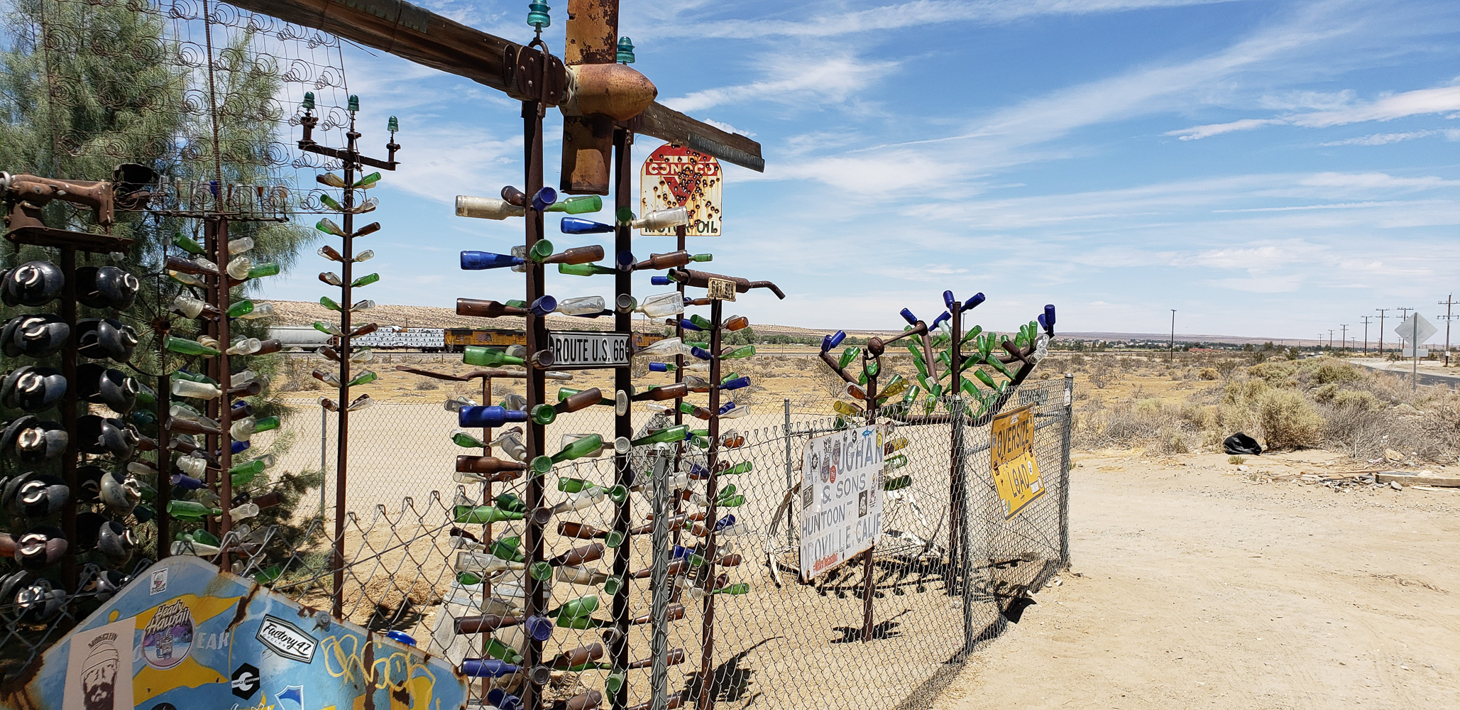 Along Route 66 in Califironia, Elmers Bottle Tree Ranch