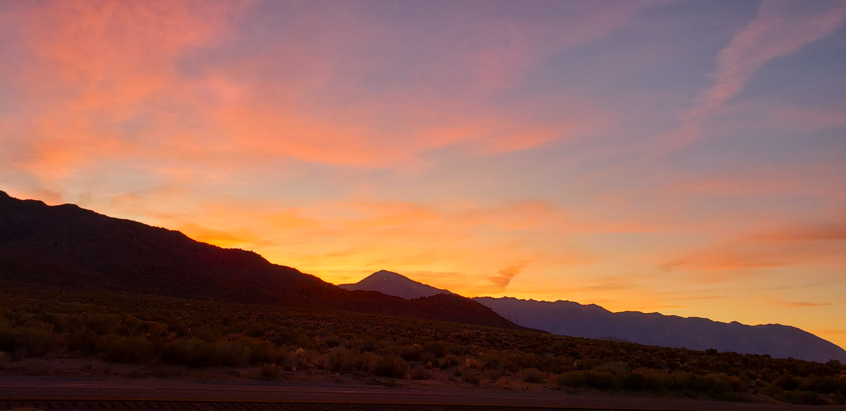 Eastern Sierra sunset