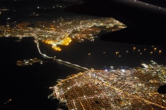 Flying over San Francisco and the bay area