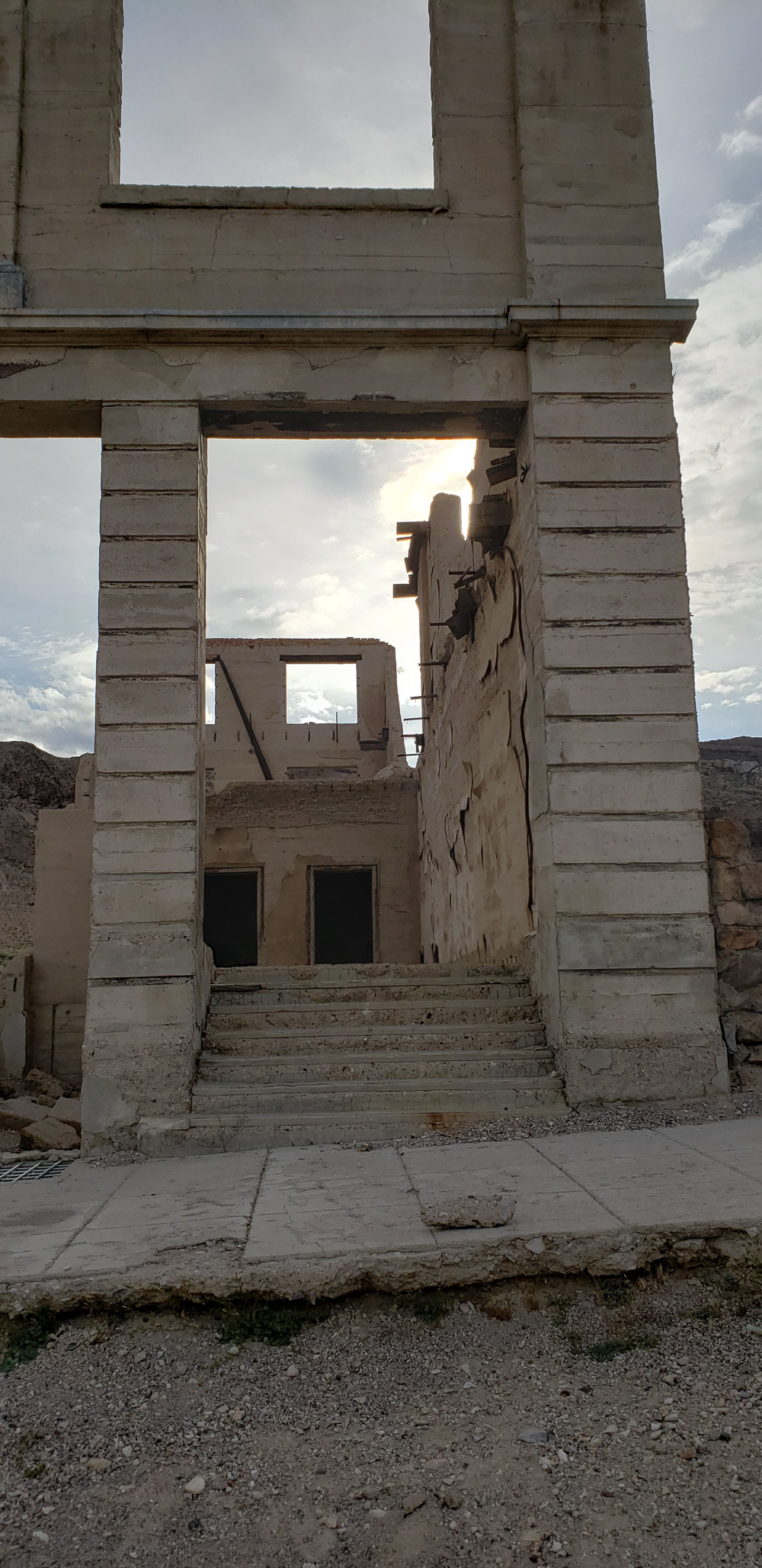 Rhyolite ghost town Cook bank building