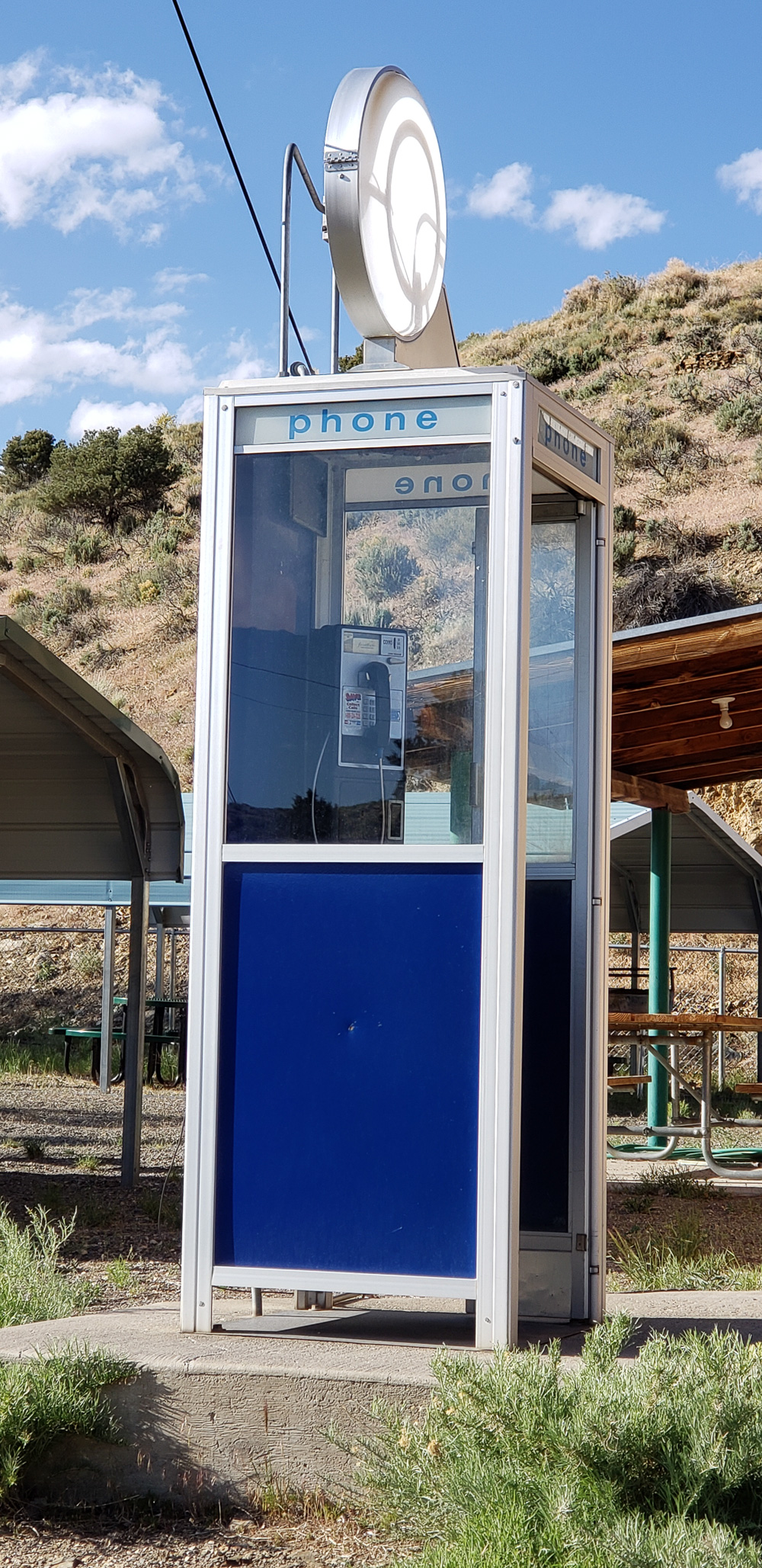 Phone booth in Manhattan Nevada