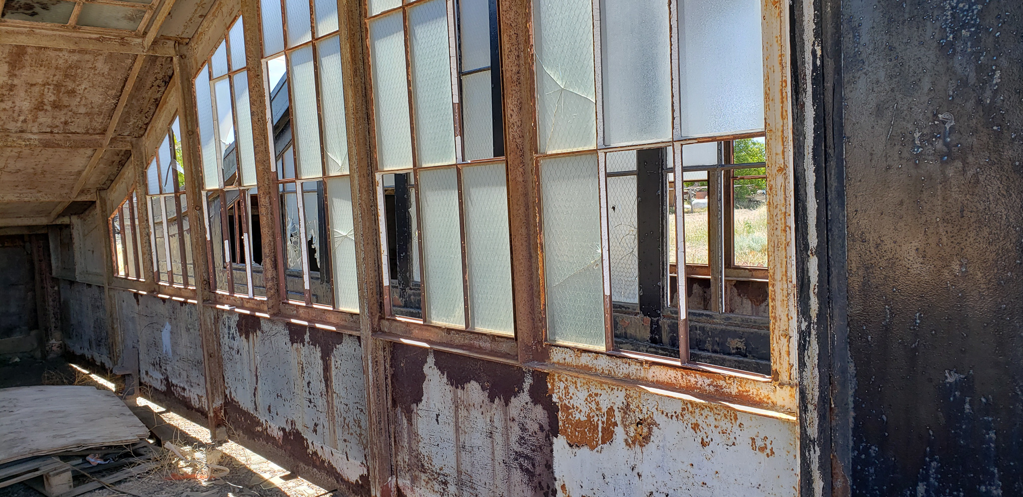 Goldfield Nevada subway entrance enclosures