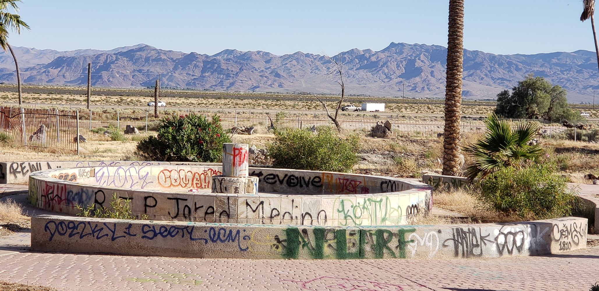 Abandoned waterpark near Newberry Springs California