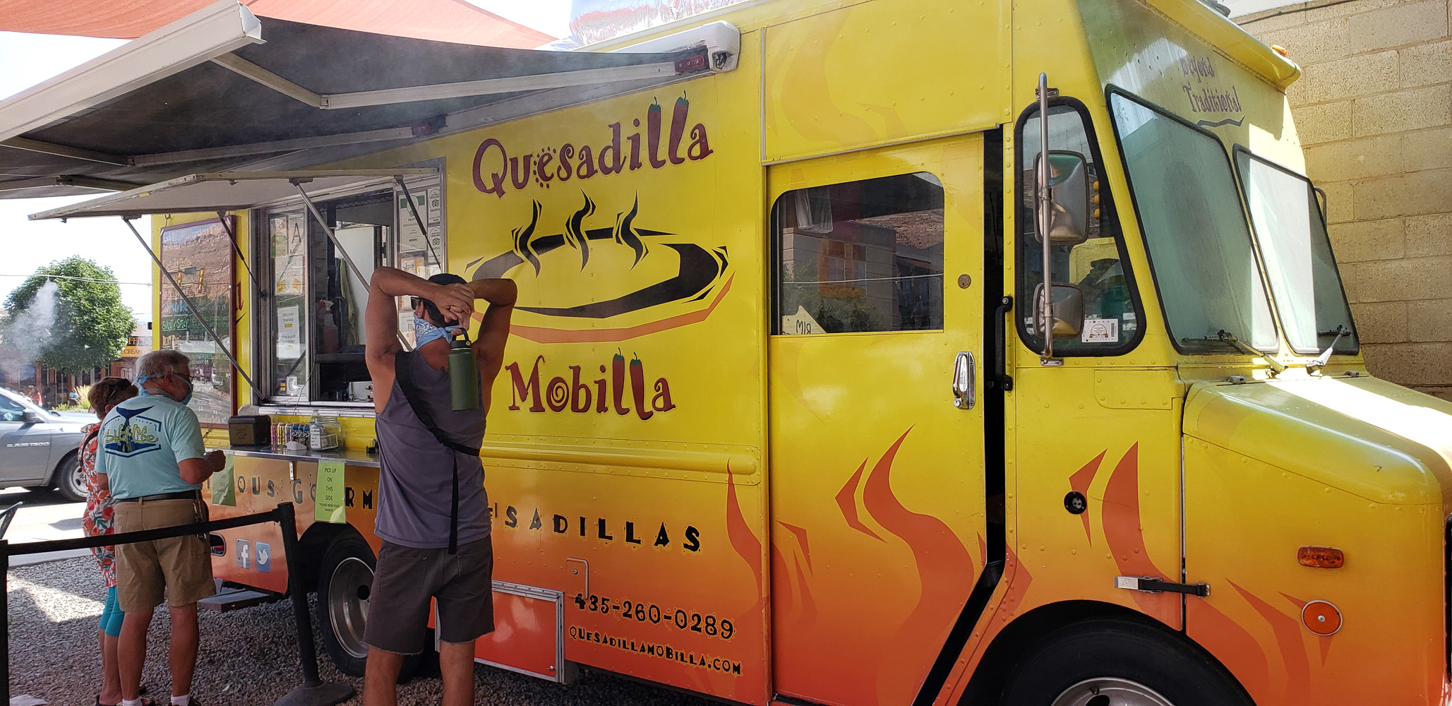Great Quesadilla's from the food truck in Moab Utah