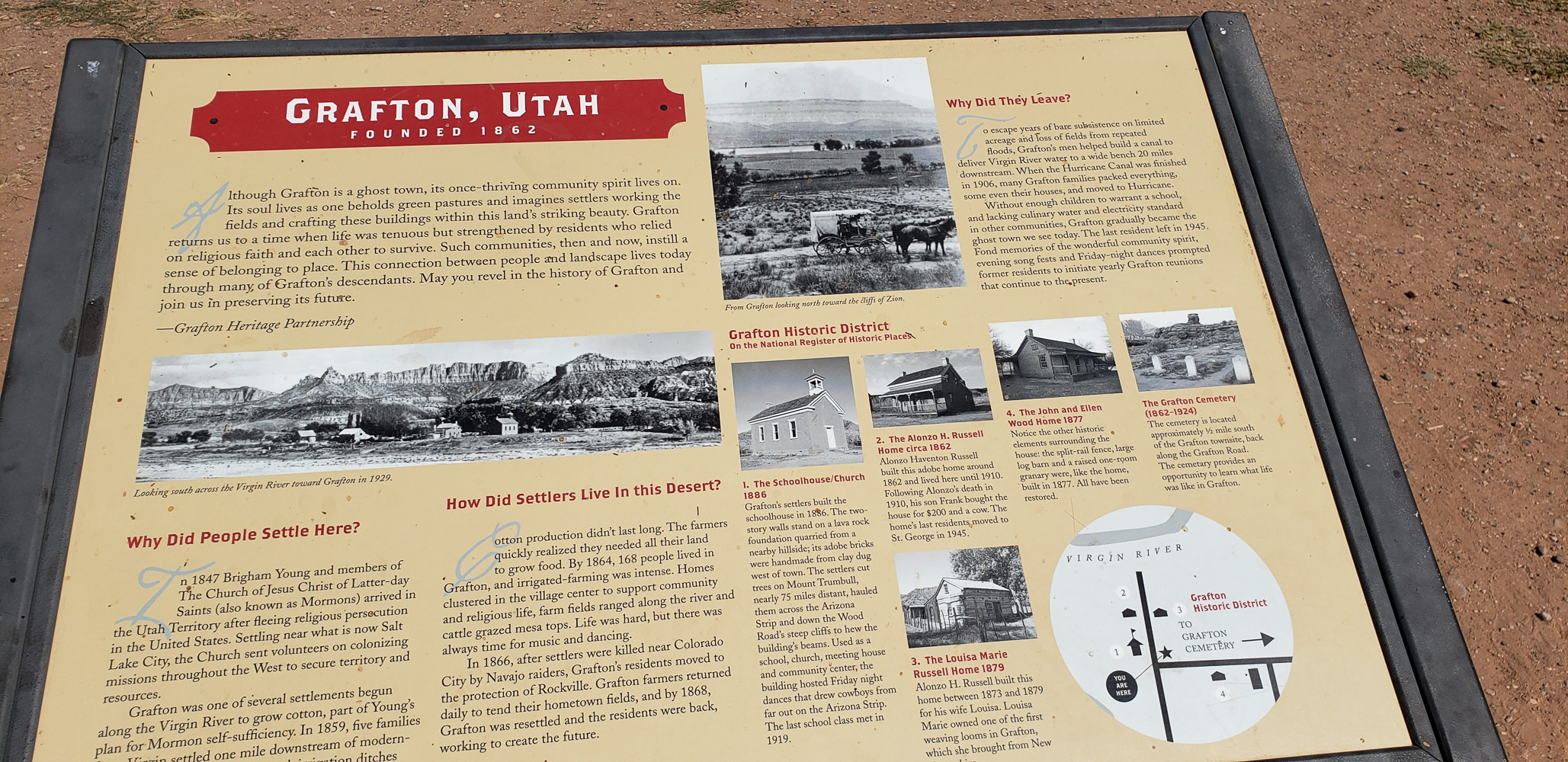 Grafton Utah ghost town