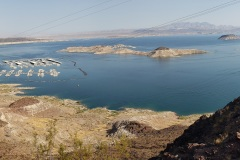 Lake Meade area. Boulder dam was closed along with the viewpoints. This is the closet I could get to the dam which is just around that hill on the right.