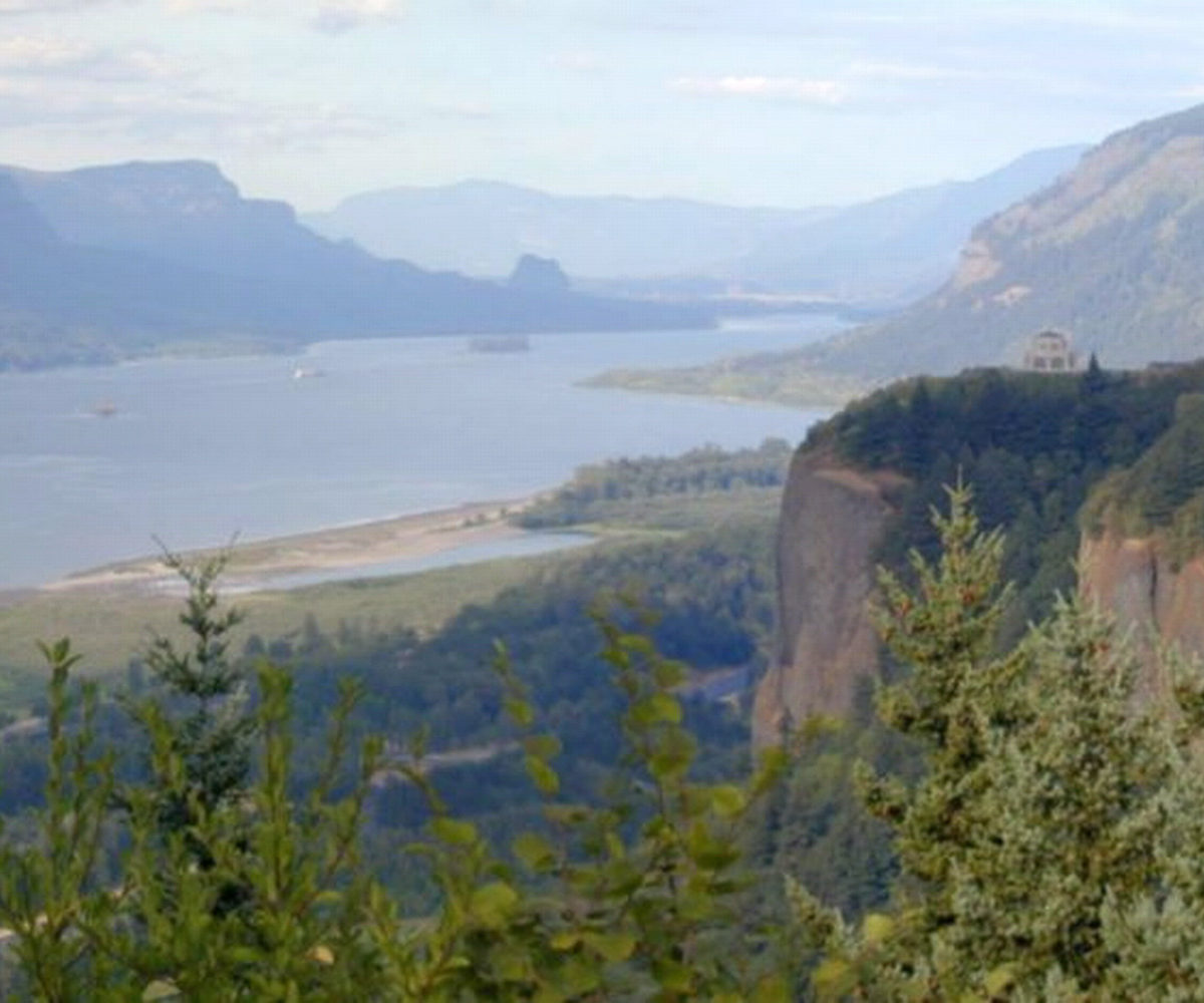 Historic Columbia River Highway and Waterfalls OR, Aug 2003