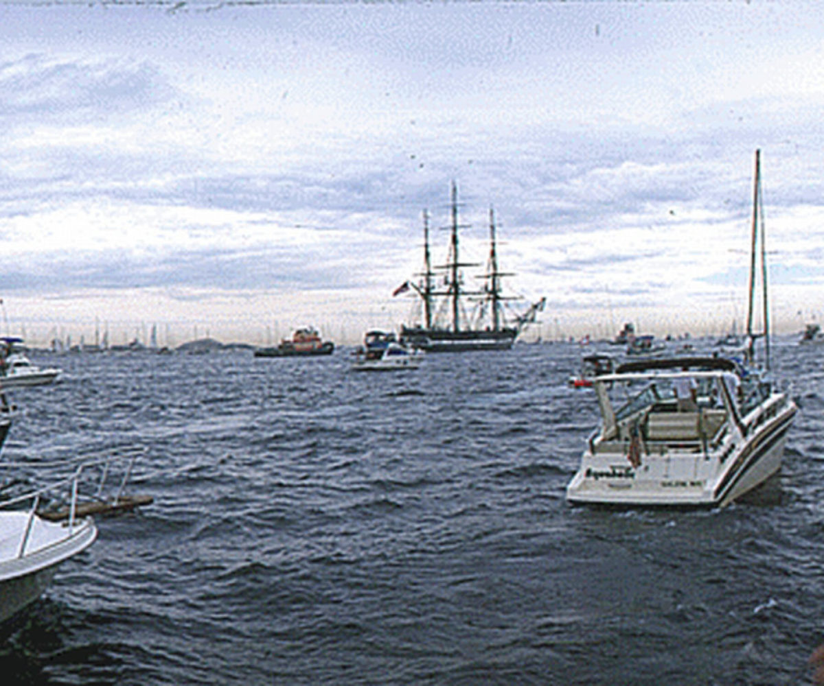 USS Constitution Sets Sail, Marblehead Harbor MA, July 1997